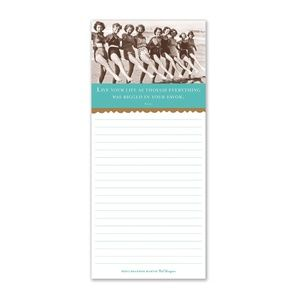 Live Your Life Magnetic Notepad